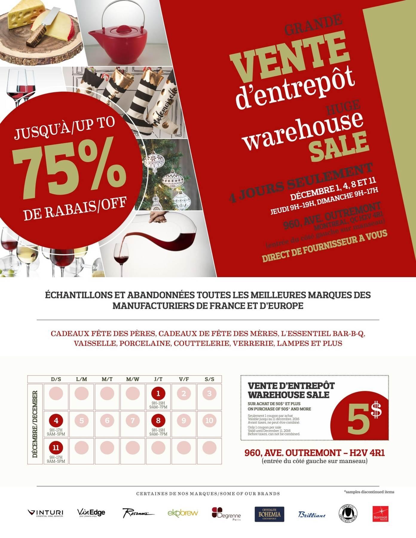 Montrealaubaine sujet mega vente d 39 entrepot anual for Entrepot liquidation
