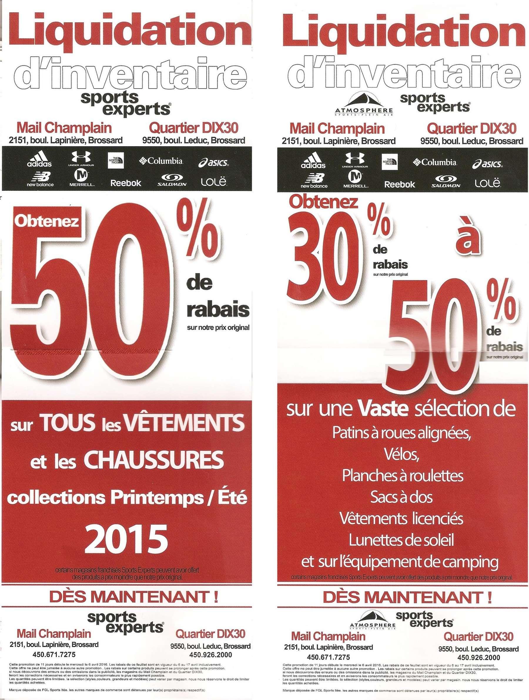 Montrealaubaine sujet liquidation d 39 inventaire chez for Liquidation electromenager rive sud