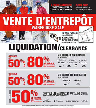 Vente d 39 entrepot reebok montreal iphone sales for Entrepot liquidation